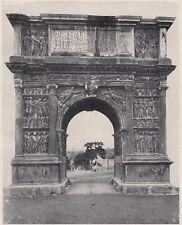 D3096 Benevento - Il magnifico Arco di Traiano - Stampa d'epoca - 1927 old print