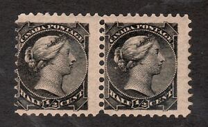 Sc #34 - Heavy Offset - 1882 - ½ Cent - Canada - MNH - VG/F - est$50
