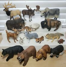 HUGE LOT Of Schleich Safari Wild Forrest Animal Figures Bears Wolf Fox Moose
