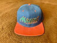 Nike Miami Hurricanes Baseball Cap Embroidered Snapback One Size