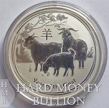 2015 *BU* Lunar Goat 2 oz Silver Australian Perth Mint Lunar Coin, Australia