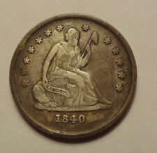 1840 O  SEATED LIBERTY QUARTER, NO DRAPERY, VERY  FINE CONDITION
