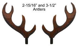 New German Made Wood Cuckoo Clock Case Deer Antler- Choose from 4 Sizes!