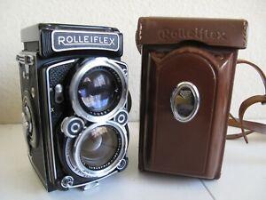 Rolleiflex 2.8C w/Schneider Xenotar 80mm f2.8 Lens TLR + Case 6x6 Medium Format
