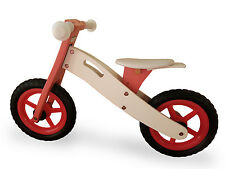 Kids Wooden Balance Running Bike First Training Cycle Girls Pink