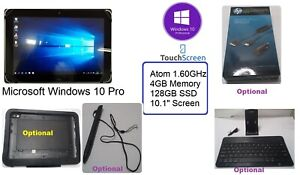 """hp Elitepad 1000 G2 10"""" Touchscreen Tablet - Win10 Pro 1.60GHz 4GB 128 /Options"""
