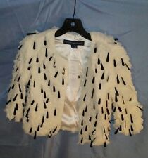 French Connection Rushes and Reeds Shrug Style 75AU4 Antique Lace Color sz 4 NWT