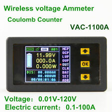 VAC1100A Wireless Power Meter Bi-color DC Voltage Current Ammeter LCD Voltmeter