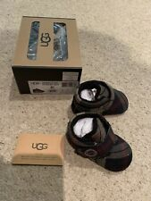 Ugg Baby Shoes Bixbee Plaid Infant Bootie Size 2/3 6-12 Months Brand New