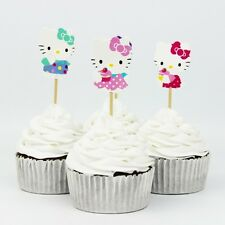 Hello Kitty Cupcake Picks Toppers Set Of 20 Birthday Party Favors Decoration