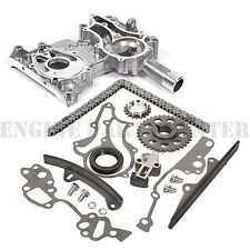 HEAVY DUTY TIMING CHAIN+COVER KIT w/METAL STEEL GUIDE for Toyota 22R 22RE 85-95