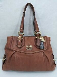 COACH Brown Leather MADISON  Shoulder Bag Satchel 14574