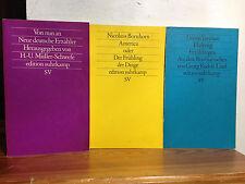 Bücherpaket 3x Suhrkamp NF 3 25 41 Von nun an/America oder der Frühling/Ehekrieg