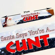 Santa Says You're A C**T Triangular Chocolate Sweet Empty Box-Holds 100g Toblero