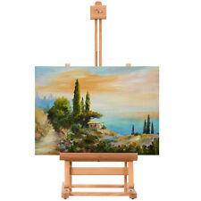 Portable Wood Tabletop Easel H-Frame Adjustable Artist Painting Display Studio