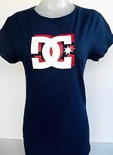 DC Shoes Logo Graphic Junior's Blue's T-Shirt Size XLarge
