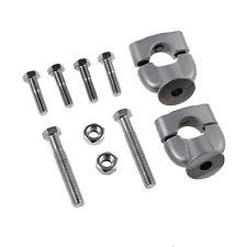 Handlebar Risers Bar Kit Metal Mount Clamp For Motorcycle Handle Bar Pair 7/8''