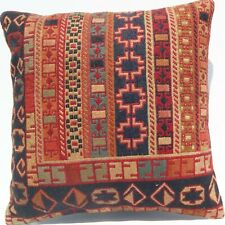 "20""x20"" home art kilim rug pillow case Kurdish handmade room art pillow area rug"