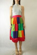 Vintage Handmade Retro Color block Midi Skirt Size 8/10