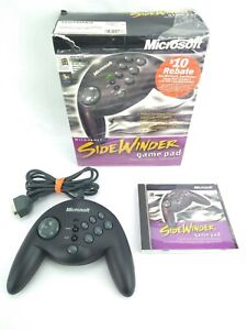 Microsoft Sidewinder Game Pad 1997 with Software Disc in Original Box