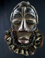 Arte Africano tribal Antico Maschera Di Cantante Dan Guéré- Mask - 27 CMS