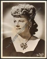"1944 Marjorie Lawrence ""Telephone Hour"" Official NBC Radio 7x9 Photo Opera"