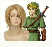 The Legend of Zelda Link Cosplay Short blonde Wig  A77