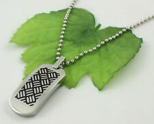 Gatik AP5584 Gents Stainless Steel Dog Tag Style Pendant & Military Ball Chain