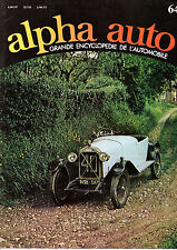 ENCYCLOPEDIE ALPHA AUTO N°64 CYCLECAR CYLINDRE CYLINDREE CADILLAC SEVILLE
