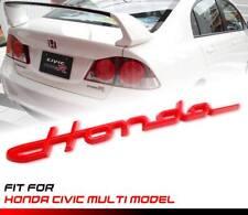 RED HONDA LOGO EMBLEM BADGE FIT HONDA CIVIC MULTI MODEL STICKER AUTO