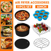 6'' 11PCS Air Fryer Accessories Airfryer Chips Baking Pan Set For 3.2-6.8QT L