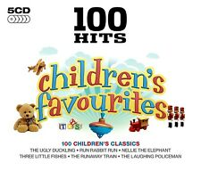 100  HITS CHILDRENS FAVOURITES NEW  5CD Ryhmes, Party,Fun Songs + More For Kids