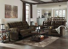 GIJON Living Room Furniture Brown Microfiber Recliner Sofa Couch & Loveseat Set