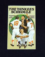 1979 New York Yankees Crown Gasoline Baseball Pocket Schedule 112373S
