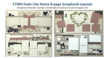 CTMH 8-page Scrapbook Pre-cut Layout Spring, Family, Wedding