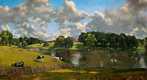 John Constable - Wivenhoe Park, Essex, Cows, Museum Grade, Poster / Canvas Print
