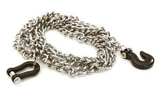 C26887BLACK Model 1/10 Metal Drag Chain w/Bow Shackle & Tug Hooks for Off-Road