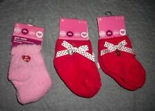 INFANT HEART SOCKS   3 pairs   5-6-1/2   GREAT for  VALENTINES  smoke free   NEW