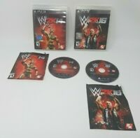 WWE2k14 and WWE2k16 Ps3 Games 100% CIB Good Condition Tested and Work!