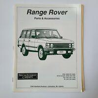 Special Interest Car Parts Range Rover Parts Catalog & Price List 1996