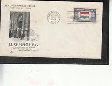 WW2 PATRIOTIC OVERRUN NATION LUXEMBOURG ARTCRAFT CACHET UNADDRESSED ULTRA CHURCH