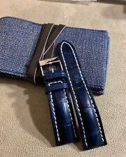 Breitling 746P, 24/20, Blue Croc strap...Mint!!