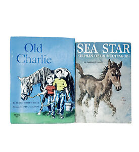 Sea Star Orphan of Chincoteague Old Charlie 2 Vintage Horse Scholastic PB Books