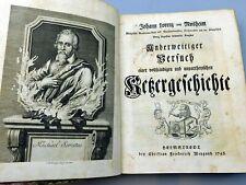 1748 German Protestant Theology Manuscripts Bound In - Johann Lorenz Von Mosheim
