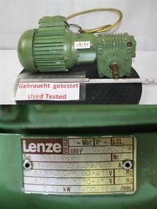 Lenze 0,25 Kw 25 Min Gear Motor Gearbox 7kb4-999h