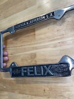 Chevrolet Felix License Plate Topper CHEVY Vintage Style Solid Metal Patina NR