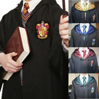 Harry Potter Cloak Gryffindor/Slytherin/Hufflepuff/Ravenclaw Cosplay Robe/Cap