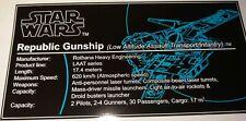Star Wars Sticker for Lego® 7676 Gunship precut Custom