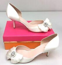 40bc56ff8f33 Kate Spade New York Santarosa 11 Ivory Satin Kitten Heel Pumps Bridal  wedding