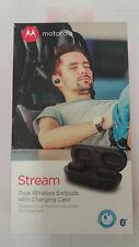Motorola Stream Wireless Stereo Bluetooth Earbuds with Charging Case Waterproof
